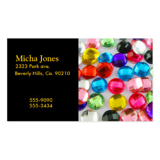 Bejeweled Bevy Of Beaded Buttons Business Card