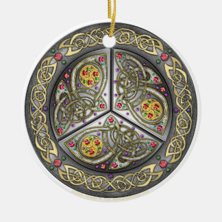 Bejeweled Celtic Shield Ornament