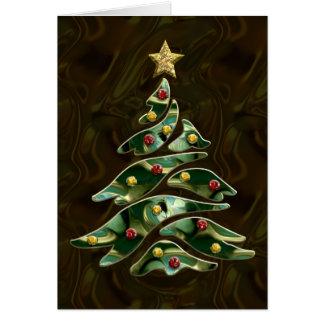 Bejeweled Christmas Tree Greeting Card