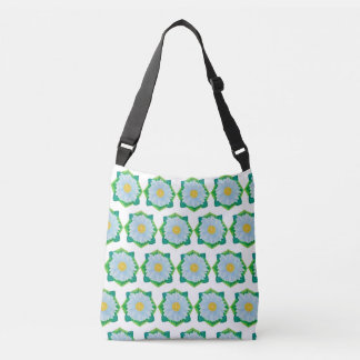 Bejeweled Daisy All-Over-Print Cross-Body/Tote Bag
