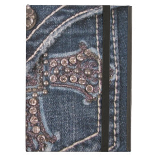 Bejeweled Denim Pocket iPad Case