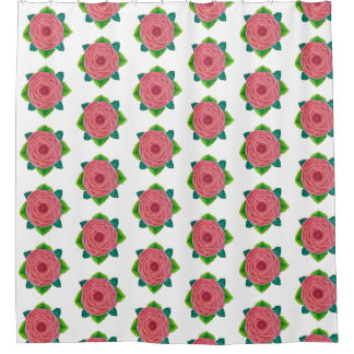 Bejeweled Pink Rose Shower Curtain