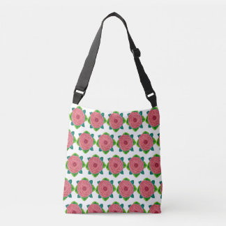 Bejeweled Rose All-Over-Print Cross-Body Bag