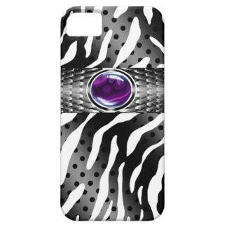 Bejeweled Spotted Zebra w/Gemstone Embellishment iPhone 5 Case