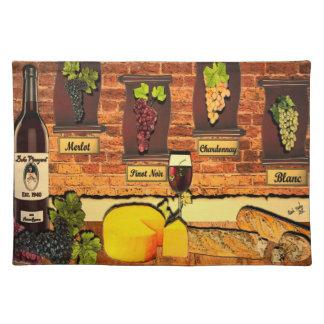 Beko Vineyard Wine Motif Placemat