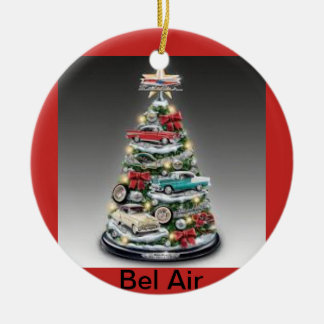 Bel Air Christmas Tree on a Circle Ornament