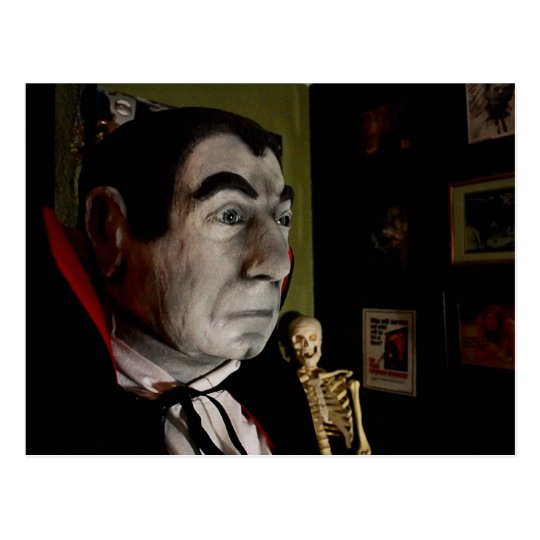 Bela Lugosi Mask Postcard