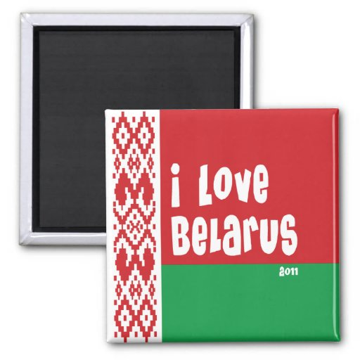 Belarus 2011 square magnet