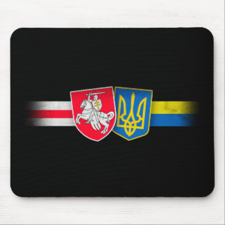 Belarus and Ukraine Brothers Forever Mouse Mat