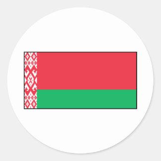 Belarus – Belarusian Flag Round Sticker