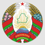 Belarus Coat of arms BY Round Sticker