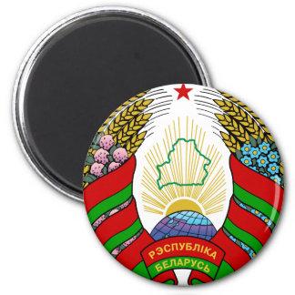 belarus emblem 6 cm round magnet