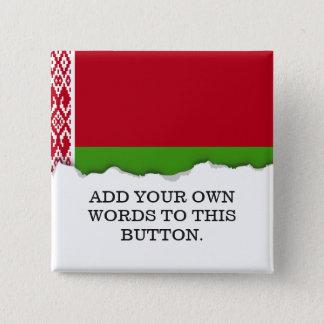 Belarus Flag 15 Cm Square Badge