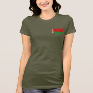 Belarus Flag and Map dk T-Shirt