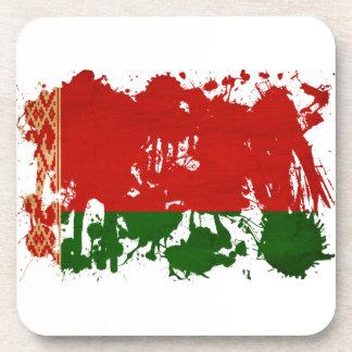 Belarus Flag Beverage Coasters