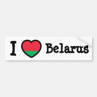 Belarus Flag Car Bumper Sticker