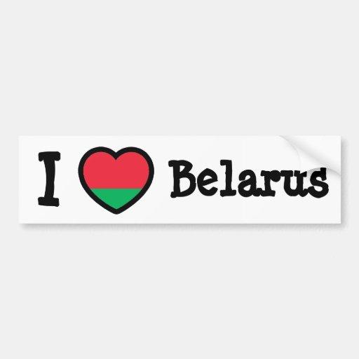 Belarus Flag Bumper Stickers