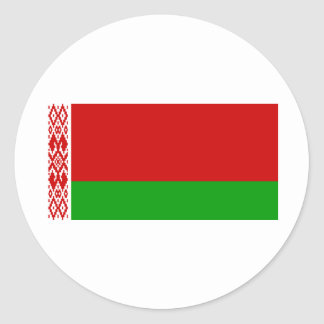 Belarus Flag BY Classic Round Sticker