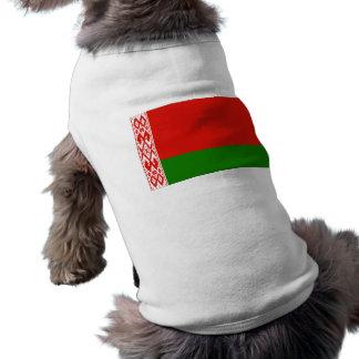 Belarus Flag Pet Tee Shirt