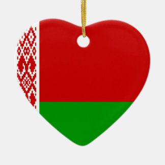 Belarus Flag Heart Ornament