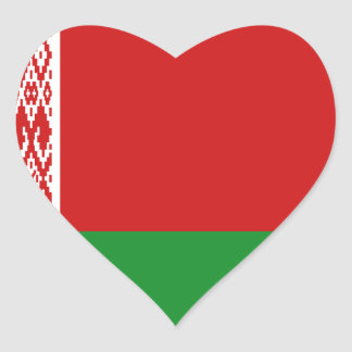 Belarus Flag Heart Sticker