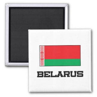 Belarus Flag Square Magnet