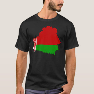 Belarus Flag map BY T-Shirt