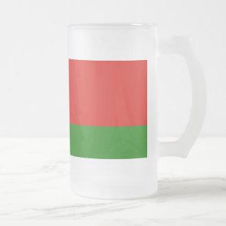 Belarus Flag Frosted Glass Mug