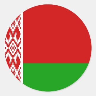 Belarus Flag Round Stickers