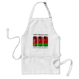 Belarus Flag Spice Jars Apron