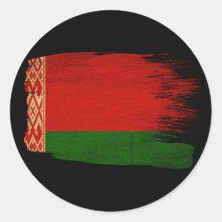 Belarus Flag Round Sticker