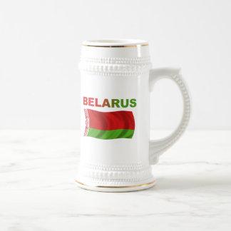 Belarus Flag (Wavy) Beer Steins