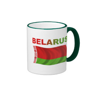 Belarus Flag (Wavy) Ringer Mug