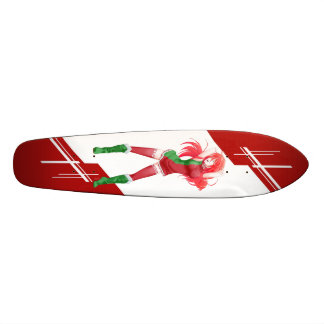 Belarus Manga girl dressed in Flag - Skate Boards