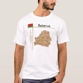 Belarus Map + Flag + Title T-Shirt