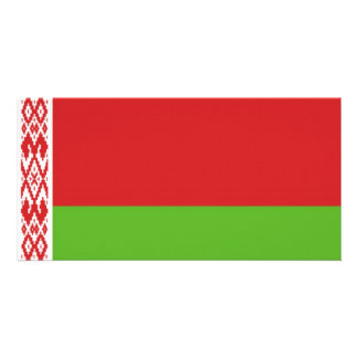 Belarus National  Flag Picture Card