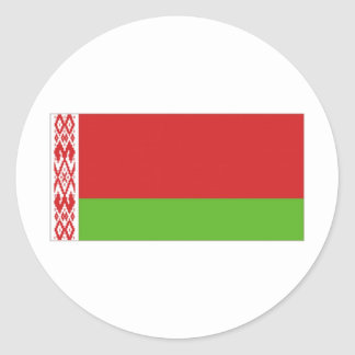 Belarus National  Flag Round Sticker