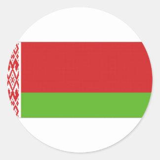 Belarus National  Flag Round Sticker