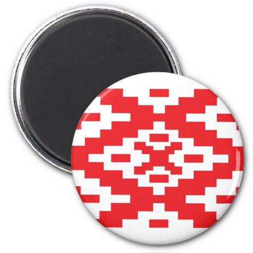 Belarus Pattern, Belarus flag 6 Cm Round Magnet