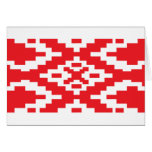 Belarus Pattern, Belarus flag Greeting Card