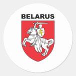 Belarus Round Sticker