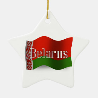 Belarus Waving Flag Ceramic Star Decoration