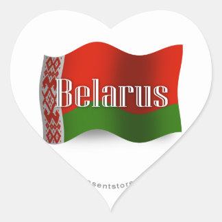 Belarus Waving Flag Heart Sticker