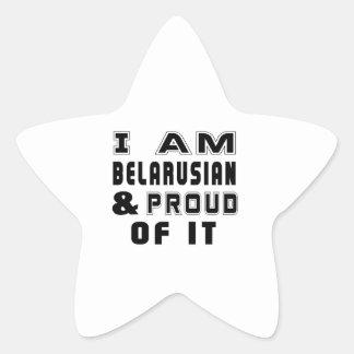 BELARUSIAN DESIGNS STAR STICKER
