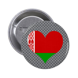 Belarusian Flag on a cloudy background 2 Inch Round Button