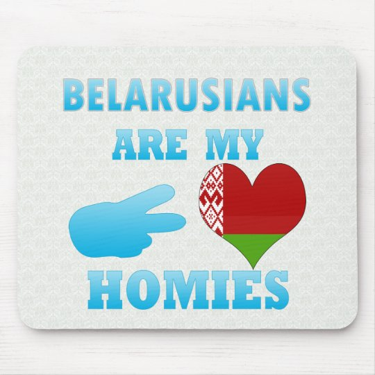 Belarusians are my Homies Mouse Mat