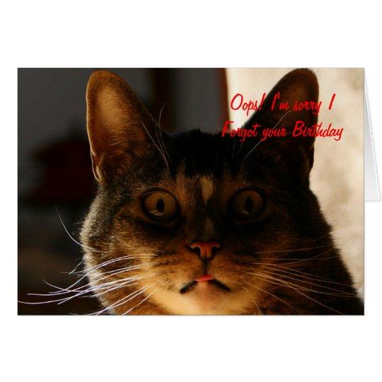 Belated Birthday CAT Card