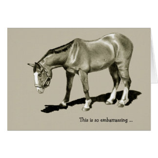 Belated Birthday: Dejected Horse, Embarrassing ... Greeting Card