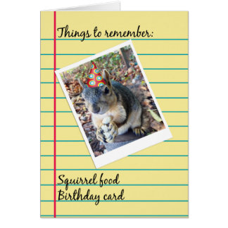 Belated Birthday Funny Squirrel in Party Hat Greeting Card