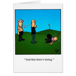 "Belated Birthday Humor Greeting Card ""Pandemonium"""